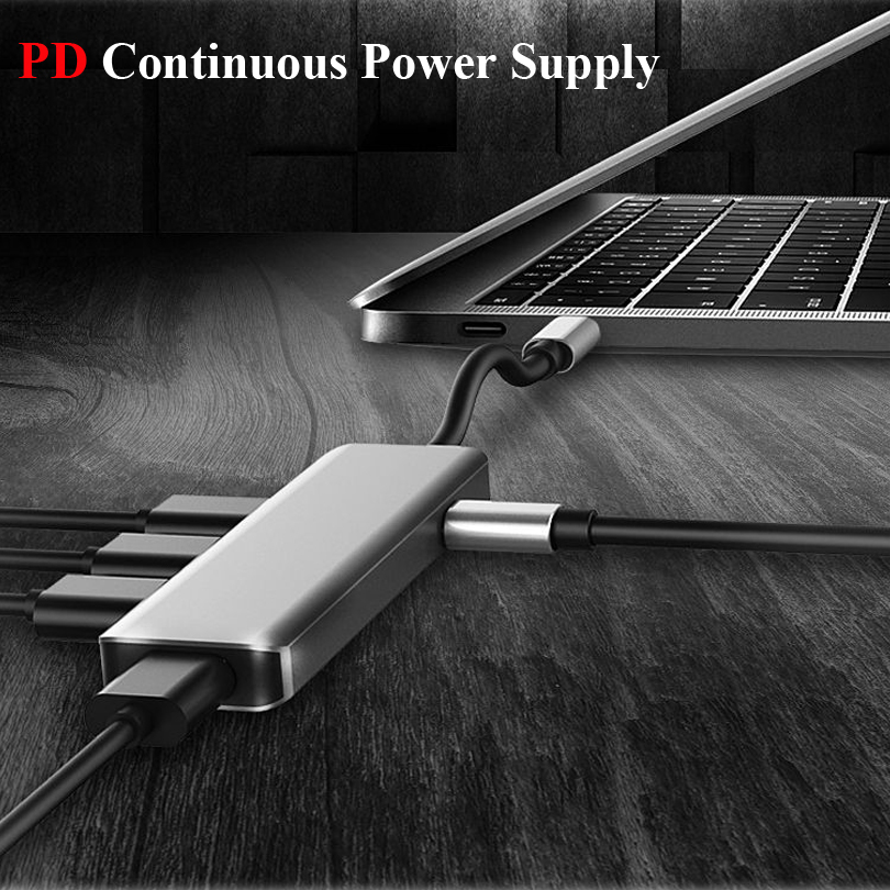 Image 4 - Multifunction USB Type c Docking Station USB C HUB To USB 3.0 RJ45 VGA Adapter for MacBook Samsung Galaxy S8 S9 HUAWEI Matebook-in Laptop Docking Stations from Computer & Office