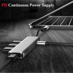 Image 4 - USB משולב סוג c עגינה תחנת USB C רכזת USB 3.0 RJ45 VGA מתאם עבור MacBook Samsung Galaxy S8 s9 HUAWEI Matebook