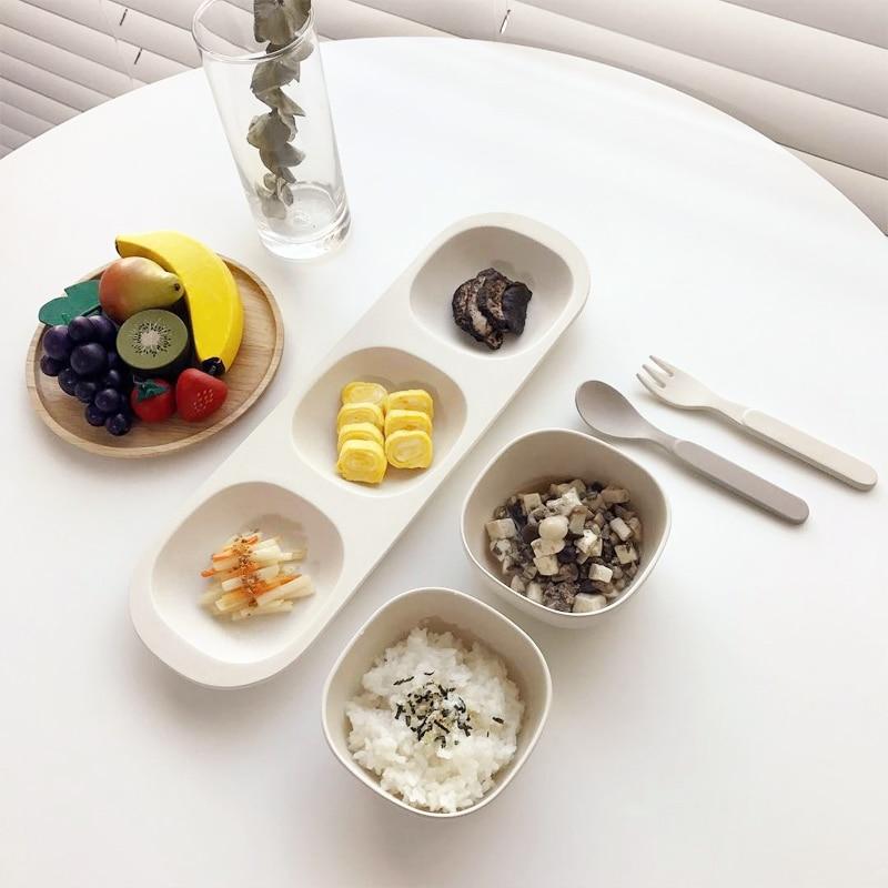 Nuevo 6 unids / set Sistema de Alimentación del bebé con Bowl Bowl - Alimentación