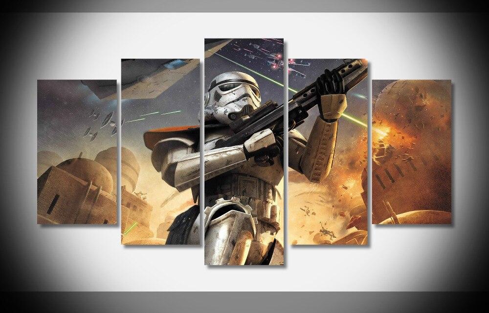 6719 digital art star wars battlefront video games stormtrooper Poster Framed Gallery wrap art print home wall decor wall HD