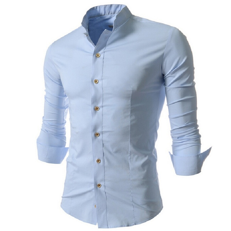 mens long sleeve pinstripe standard cuff tab collar clergy shirt (blue/white style 01) Regular Price: $ Special Price $