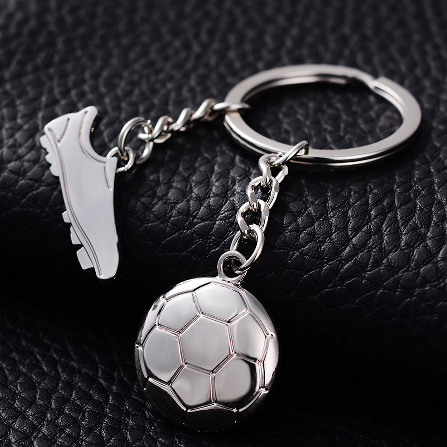 personalized soccer shoes key chain ring holder creative metal