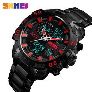 Image 5 - SKMEI Luxe Merk Heren Horloges Analoge Digitale Sport Quartz Horloge Mannen Militaire Waterdicht Klok Dual Tijd Casual Polshorloge