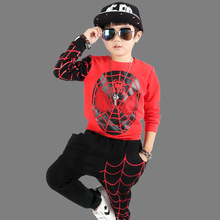 Boys clothes spring and autumn 2019 new cotton cartoon long sleeve suit baby sports children's clothing цена