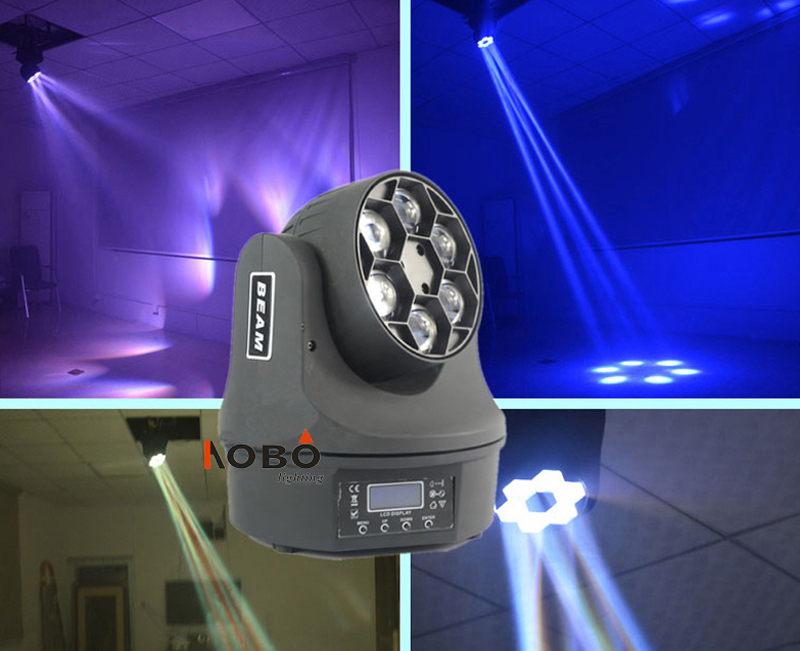 Mini Bee Eyes Moving Head Beam LED 6*15W RGBW DJ Stage Disco Party Show Lighting Beam moving Head event Show lights Pro Sound Li
