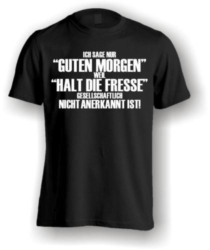 Gildan T-Shirt funshirtl ustig Slogan Mens Funny Printed Shirt Good Morning