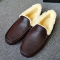 Men's autumn and winter warm air permeability of 5775 peas classic wool inside casual snow boots models  Brown