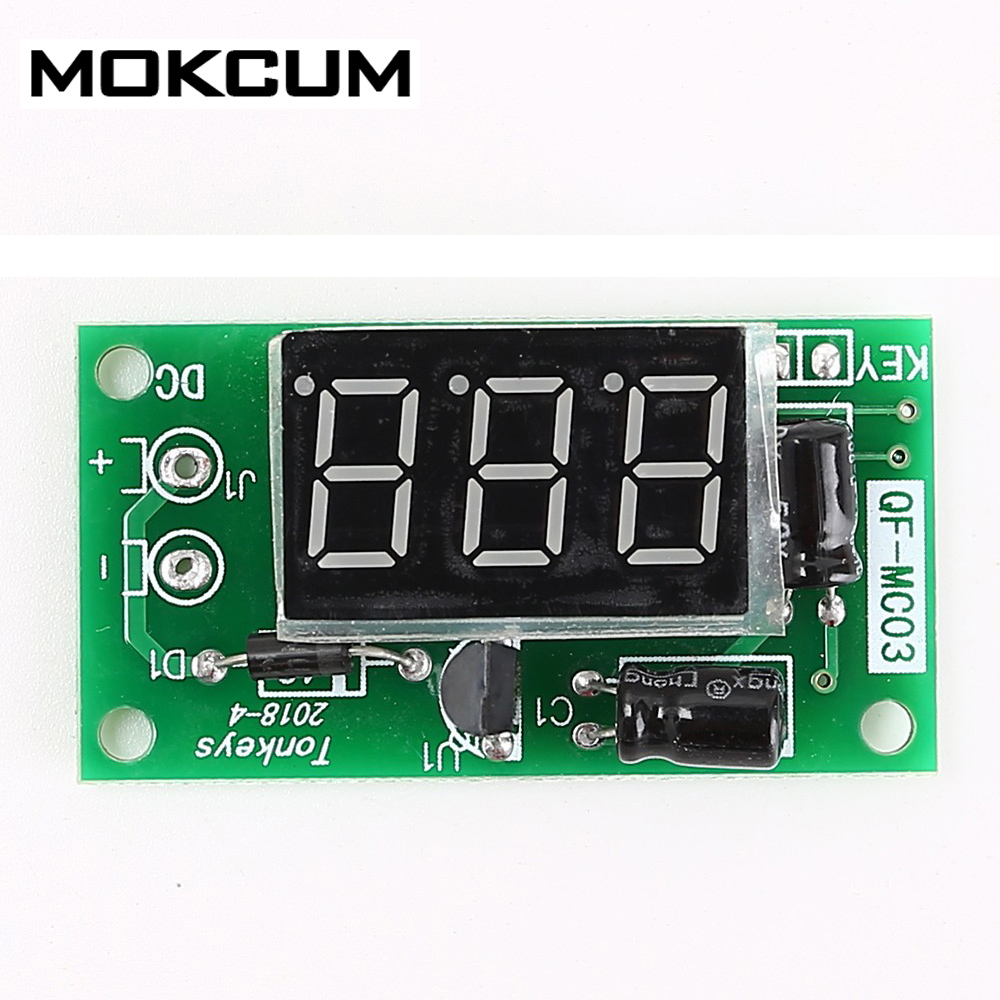 DC 12V 3 Bit Red 0.36in Digital Tube Display Trigger Counter Module Accumulator Power ON Counter Module Accumulator|Counters| |  - title=