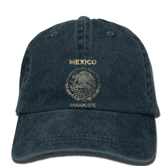 Hip Hop Baseball Caps Printed Men Hat Mexico Vintage Passport Women