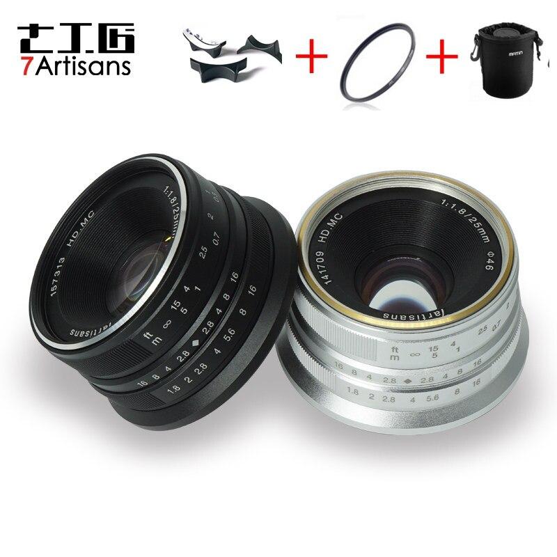 7 artisans 25mm f1.8 Premier Objectif à Tous Unique Série pour E Montage Canon EOS-M Mout/pour Micro 4/3 Caméras A7 A7II A7R A7RII X-A1