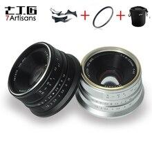 7 rzemieślników 25mm f1.8 obiektyw do wszystkich pojedynczych serii dla E do montażu na Canon EOS M Mout/dla mikro 4/3 kamer A7 A7II A7R A7RII X A1