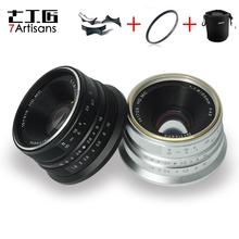 7artisans 25mm f1.8 ana Lens tüm tek serisi için montaj Canon EOS M montaj/mikro 4/3 kamera A7 A7II A7R A7RII X A1