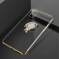 Luxury Phone For Clear Case On iPhone X Cover Cases Bags Coque Slim For Silicone Case iPhone X Ring Kickstand Black 2