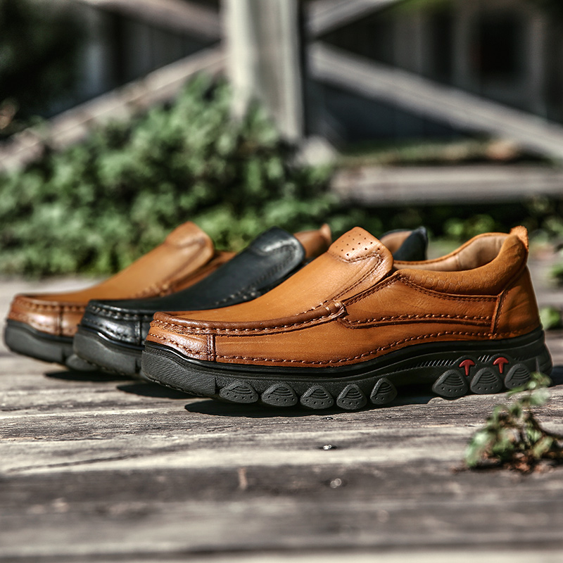 Brown Marrom Couro Homem Trabalho brown Sapatas Black 100 Confortáveis De dark Homens Masculinos Sapatos Para Genuíno Caminhada Preto Patente Flats Business Casual wZIqPg1g
