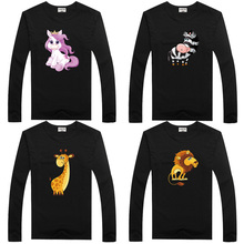 цена на DMDM PIG Kids Clothes Boys Long Sleeve Cartoon T Shirt Children Baby Girl Tops Girls T-Shirt Size 2T 3 4 5 Years Tshirt Tee