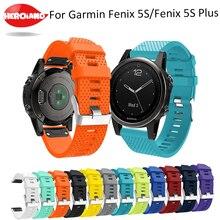 Bracelet de montre 20mm pour montre Garmin Fenix 5S bracelet de poignet en Silicone à dégagement rapide pour Garmin Fenix 5S/5S Plus