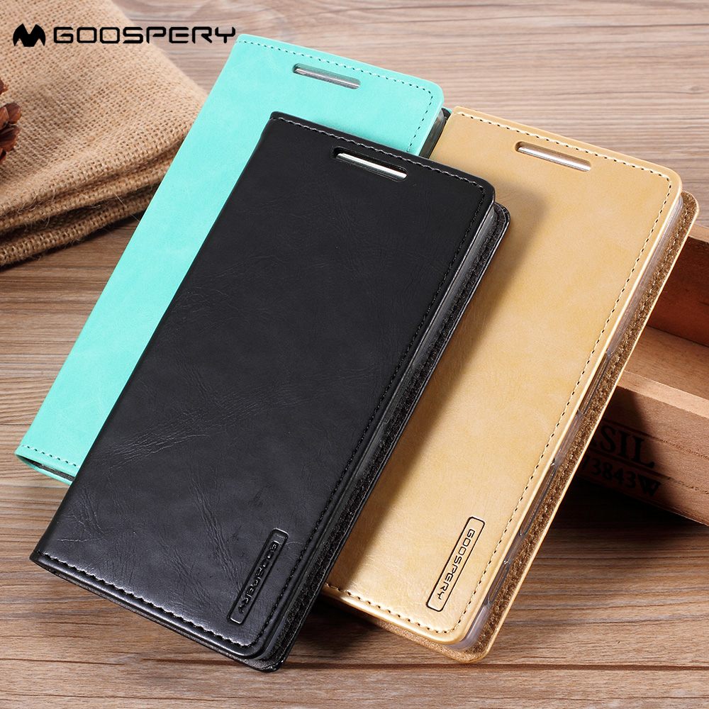 For A3 A5 A7 2017 j2 j5 j7 prime J3 2016 Cases MERCURY GOOSPERY Blue Moon Stand Leather Cover for Samsung Galaxy S8 S8 Plus case