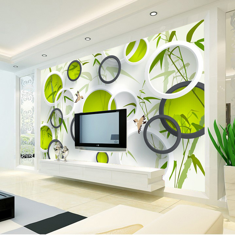 Fashion 3d Wallpaper Waterproof Mural Birds Bamboo Photo Wallpaper