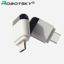 Micro rodzaj usb-C interfejsu inteligentny kontrola aplikacji telefon komórkowy pilot zdalnego sterowania bezprzewodowego urządzenia na podczerwień adapter do tv tv pudełko tanie tanio Robotsky Komputer Audio wideo odtwarzacze Klimatyzator Oświetlenie TV Remote controller 433 mhz