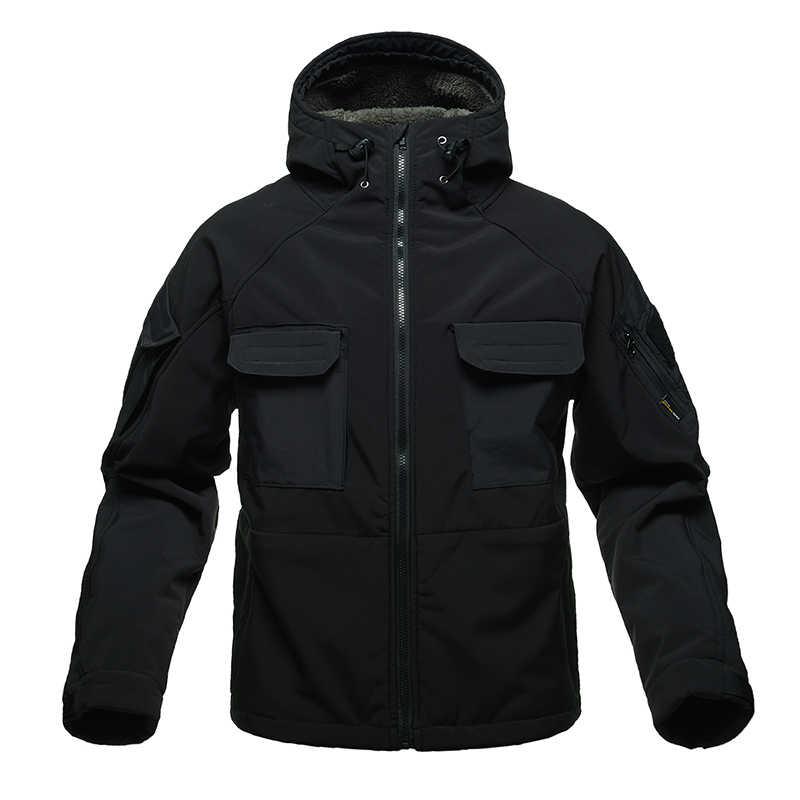 を無料の兵士屋外スポーツキャンプ戦術的な防風男性のジャケットソフトシェル男性ミリタリークロス暖かい冬コート