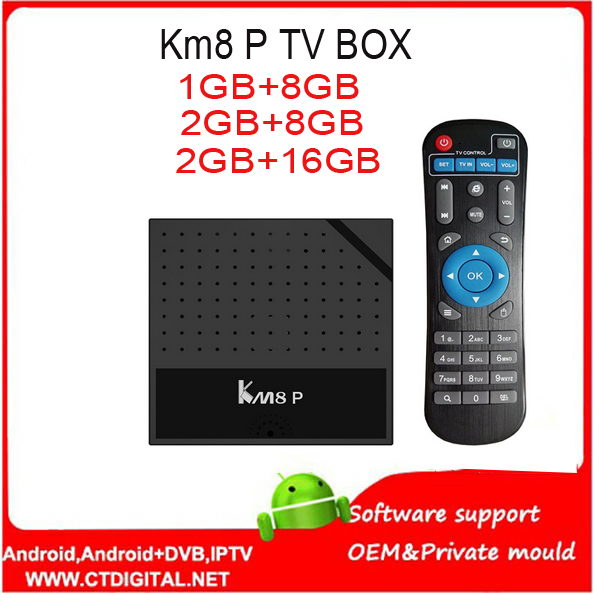 10PCS Mecool KM8 P Android 7.1 Nougat Smart TV Box 2GB 16GB Amlogic S912 Octa Core H.265 ...