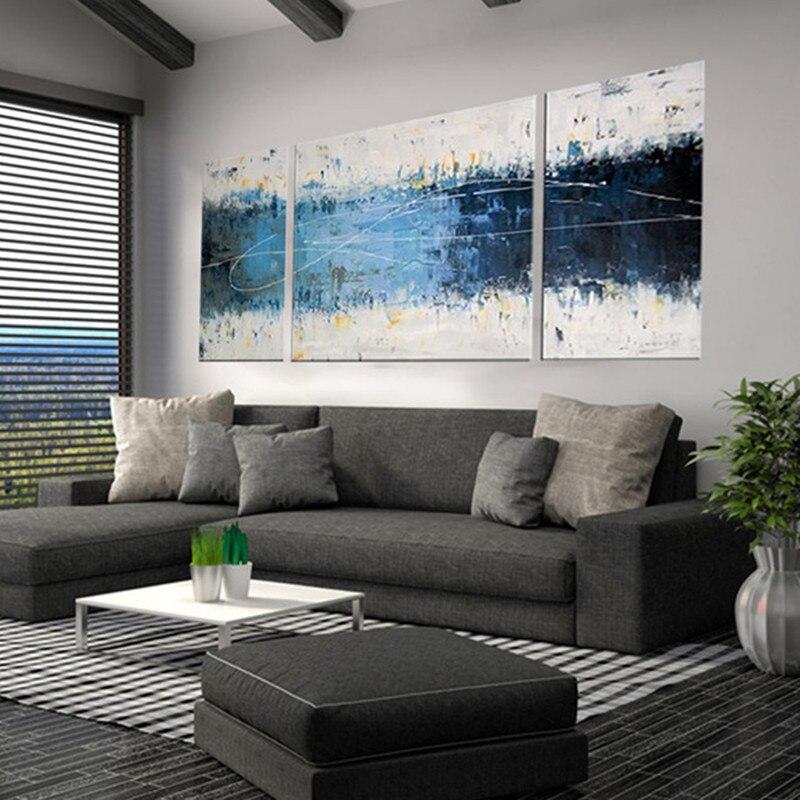 Современная Абстрактная живопись маслом на холсте граффити линии акриловые картины для гостиная домашний декор обои 3 Панель книги по иску