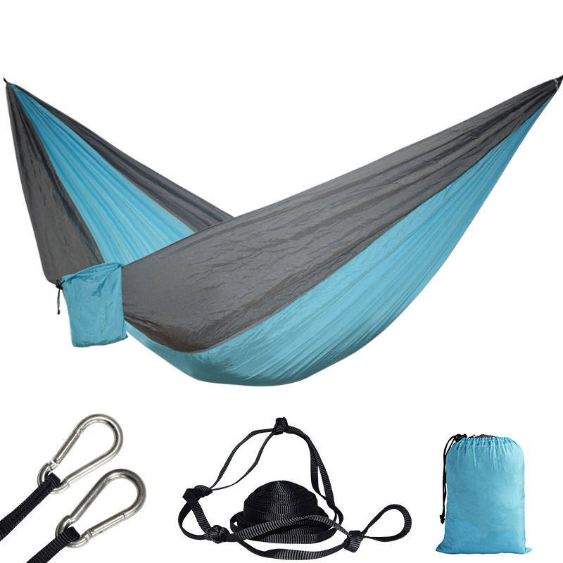Double Hammock Camping Survival Hammock Parachute Cloth Portable Swing Sleeping Bed For 2 Person Camping Travel Furniture parachute hammock parachute hammock double muebles exterior