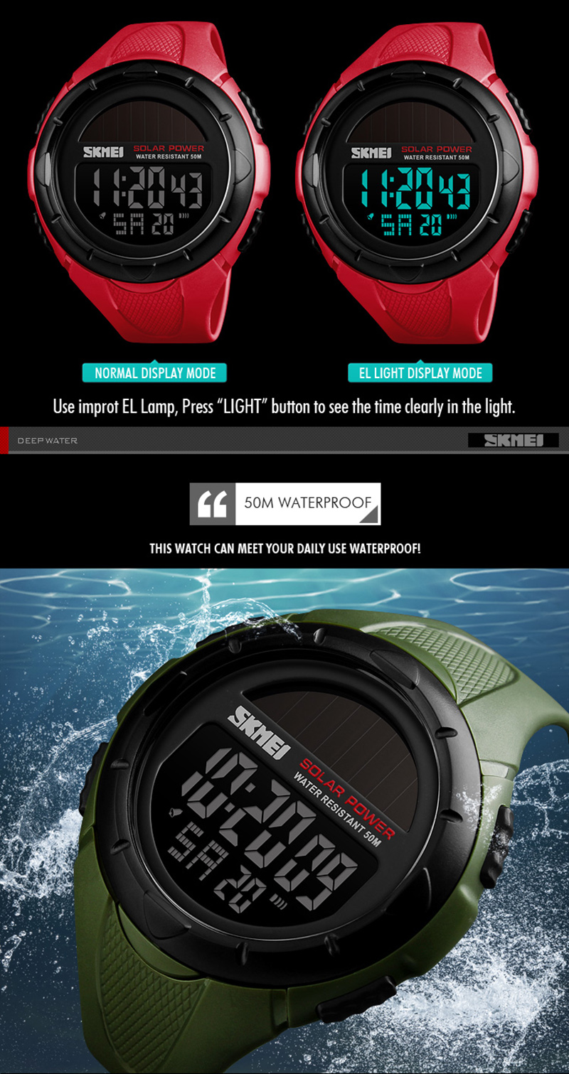 Mens Sports Watches Dive 50m Digital Led Military Watch Men Fashion Casual Electronics Wristwatches Man Clock Relojes Skmei 2019 A Great Variety Of Goods Digital Watches Watches