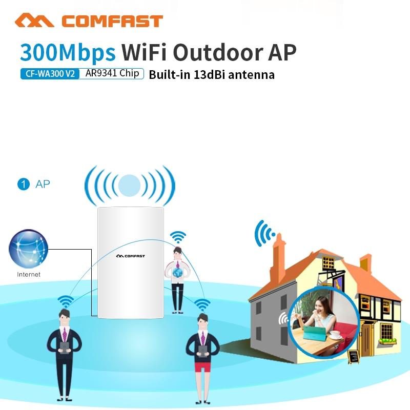 Comfast WA300V2 300 Mbps plus utilisateur jardin sans fil AP/pont réseau/extérieur wifi répéteur Signal amplificateur Base Staion AP CPE