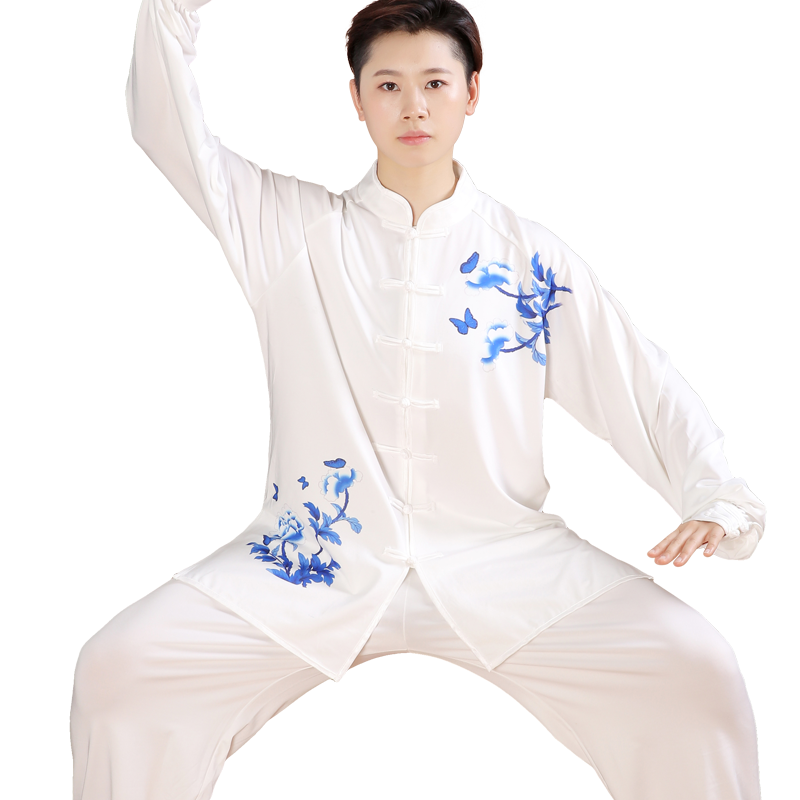 2019 Summer Long Sleeve Wushu Taiji Winchun Uniform Two Sided Traditional Chinese Clothes Tang Suit Top Outfit Clothing Fixing Prices According To Quality Of Products Home