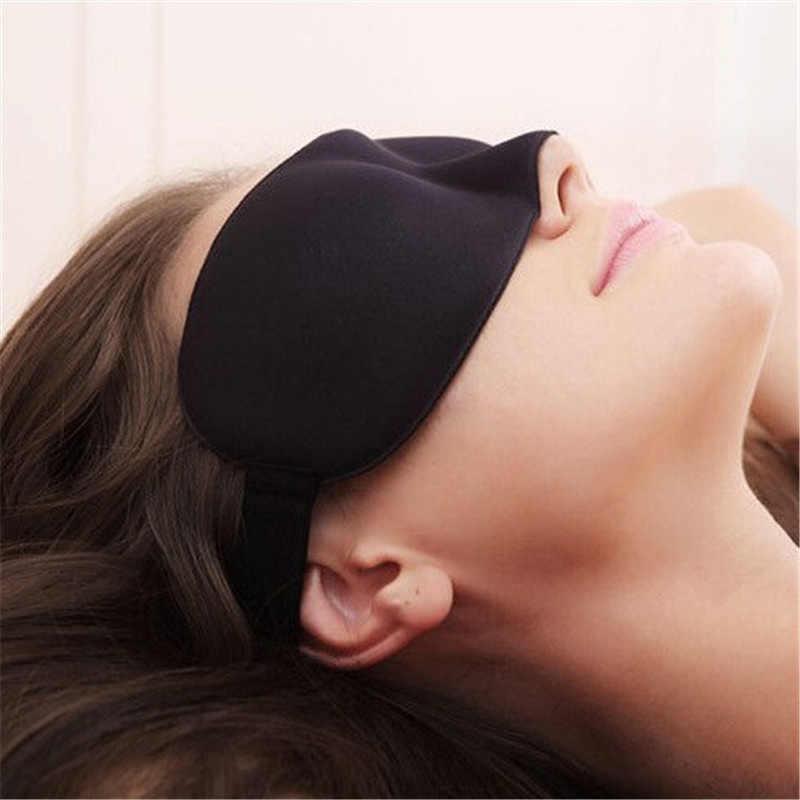 New 3D Memory Sponge Travel Sleep Eye Mask Padded Shade Cover Sleeping Blindfold Aid
