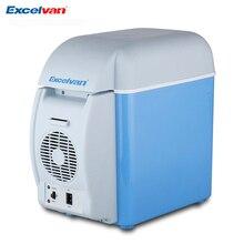 Excelvan портативный 7.5L Мини Автомобильный холодильник многофункциональный домашний туристический холодильник морозильник Теплее Холодильник Авто поставка