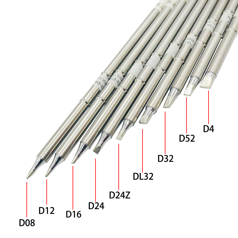 T12 D Series Soldering Solder Iron Tips T12 Series Iron Tip For Hakko FX951 STC AND STM32 OLED Electric Soldering Iron