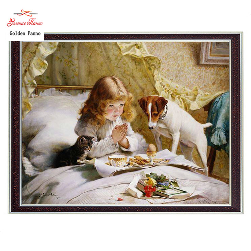 Needlework Craft Home decor French DMC Quality Counted Cross Stitch Kits Oil painting 14CT unprinted embroidery Suspense pattern