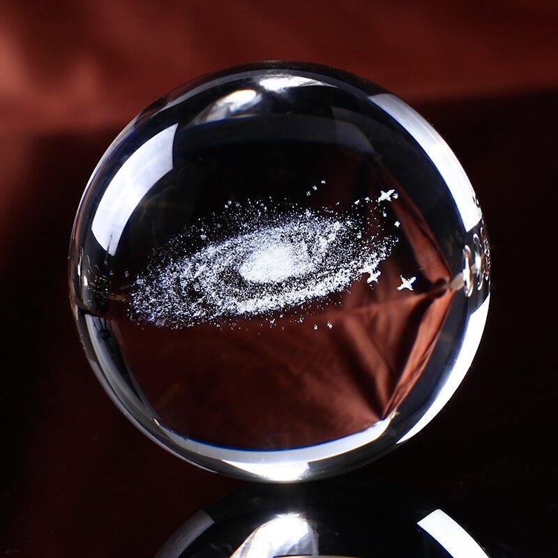 Home & Garden 80mm Glass Ball 3d Laser Engraved Dragon Crystal Ball Feng Shui Globe Home Decoration Accessories Glazen Bol Miniatures Gifts