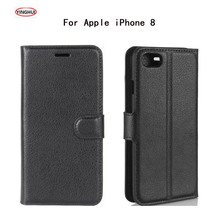 HUDOSSEN For Apple iPhone 8 Case Luxury PU Leather Back Cover For Apple iPhone 8 Plus Case Flip Protective Phone Bags Skin Para стоимость