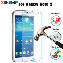 Ultra Thin 0.26mm Anti-shatter Explosion Proof Tempered Glass For Samsung Note 2 N7100 9H Screen Protector Film with Clean Tool