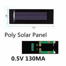 Poly Solar Panel 0.5V 130MA for DIY handmade fan cap