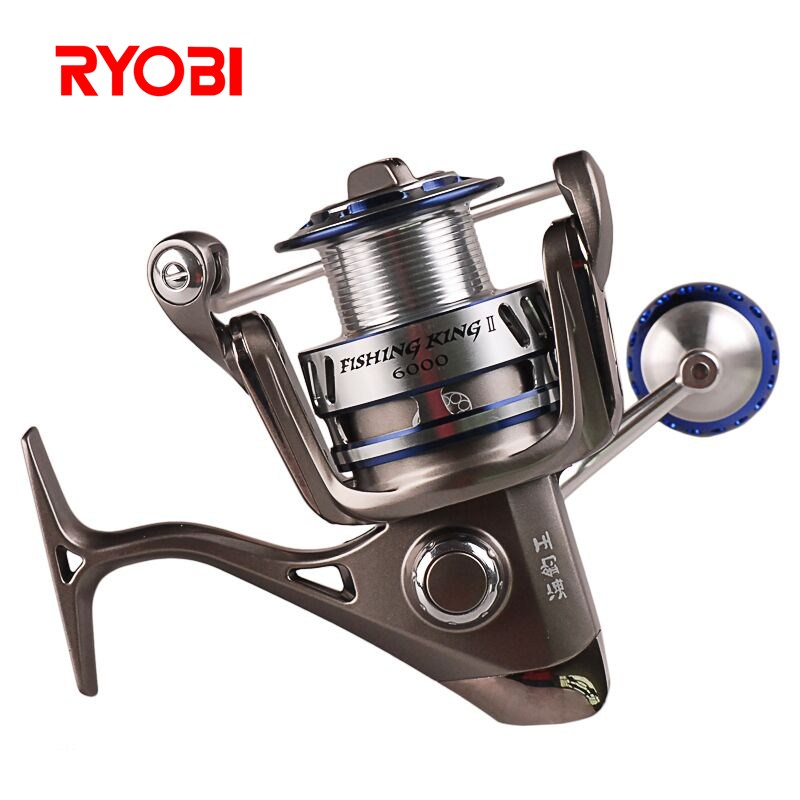цена на RYOBI 6000/8000 Spinning Fishing Reel 5.0:1/6+1BB CNC Handle Zew Applause Spinning Reels Saltwater Carretilha De Pesca Molinete