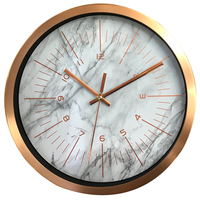 12 Inches Mute Wall Clock Marble Pattern Roman Numbers Silent Livingroom Bedroom Study Room Wall Clocks Home Decor