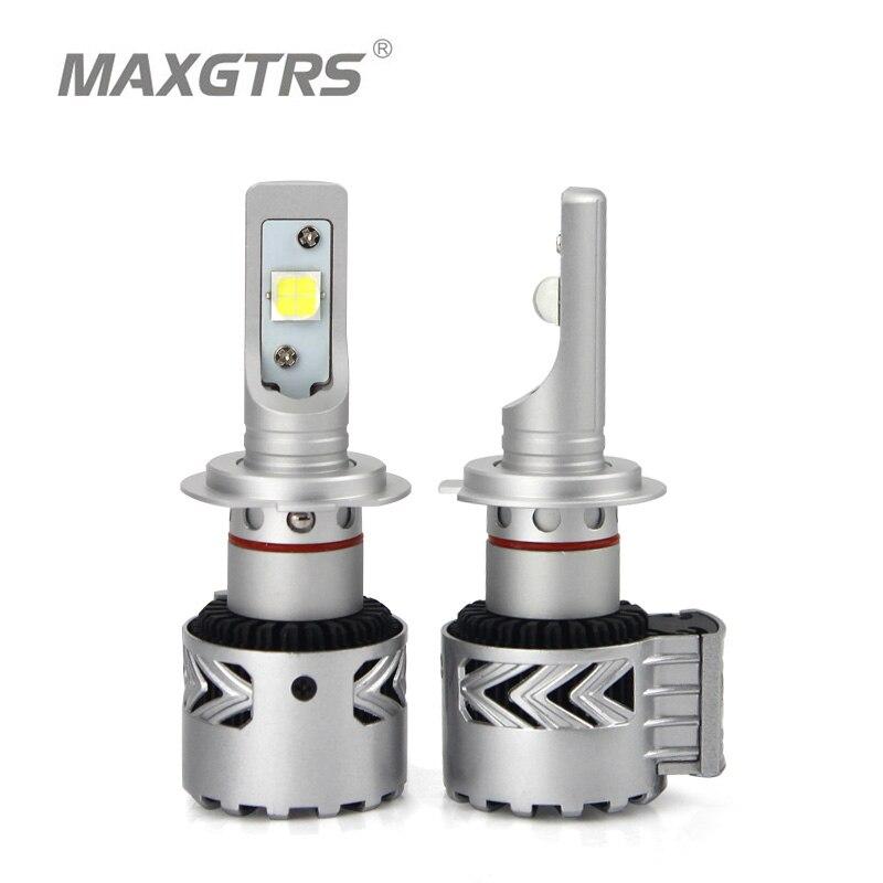 Maxgtrs водить автомобиль Фары для автомобиля комплект H7 H8/H11 HB3/9005 HB4/9006 9012 D1 D3 CREE чип xhp70 Авто Передние фары автомобиля укладки Освещение