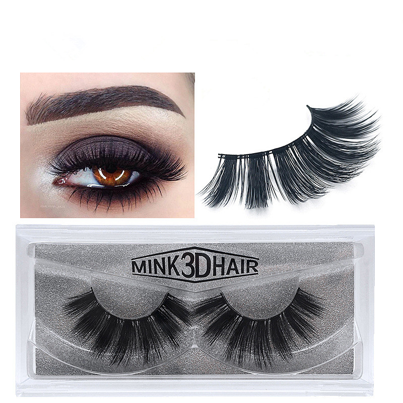 new 3 pairs mink eyelashes extension natural false eyelashes 3D mink lashes makeup soft fake eyelash beauty tools for women
