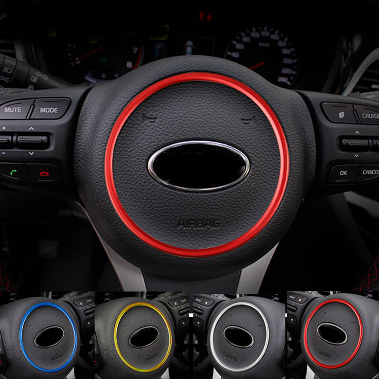 1pc For KIA K4 KX3 K5(2014-2015) Steering Wheel Decorative Ring