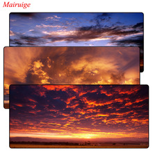 Mairuige Sky with Sunset Large Gaming Mouse Pad Gamer Locking Edge Keyboard Mouse Mat Gaming Mousepad for CS GO LOL Dota Game цена и фото