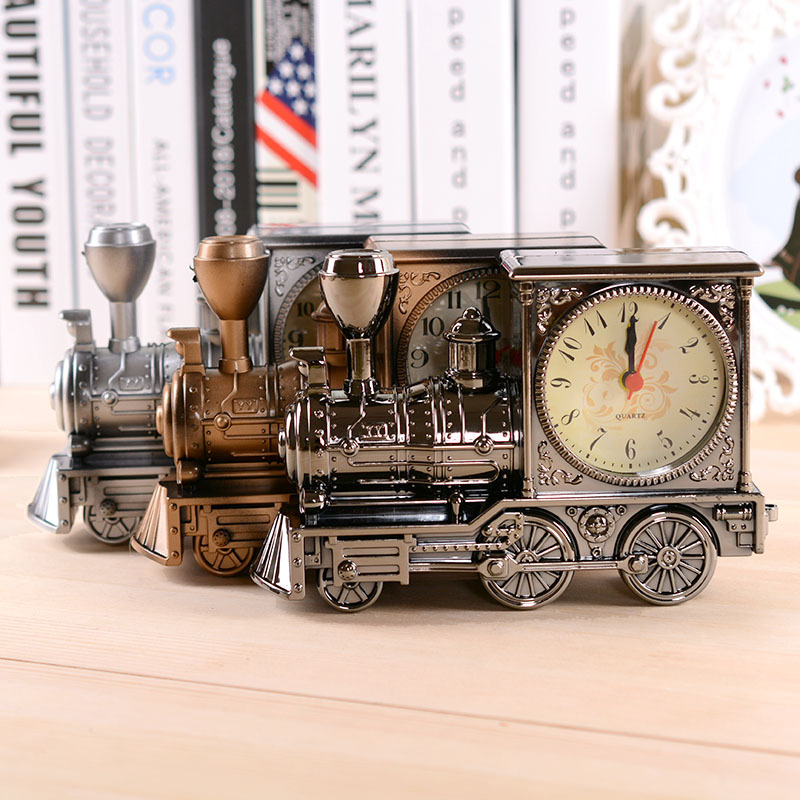 Classic Vintage Style Retro Locomotive Design Alarm Clock ...