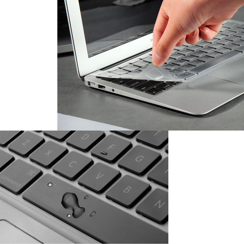 EU/UK/US Silicon Keyboard Cover Transparent Clear Protector for Apple For Macbook Air 11/Retina 12/Air 13 15/Pro 13 15/Retina 13 us eu uk rainbow silicon keyboard cover for apple macbook air 13 pro 15 retina 17 inch protector for imac 21 5 wireless keyboard