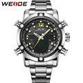 WEIDE Мужчины Наручные Часы Марка Кварцевые Аналоговые Цифровой Авто Дата Сигнализация Секундомер Дисплей Новая Мода Простой Повседневная Большой Циферблат relojes