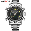 WEIDE Men Wristwatches Brand Quartz Analog Digital Auto Date Alarm Stopwatch Display New Fashion Simple Casual Big Dial relojes