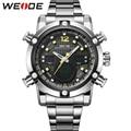 WEIDE Men Wristwatches Brand Quartz Analog Digital Auto Date Alarm Stopwatch Display New Fashion Simple Casual Big Dial relojes
