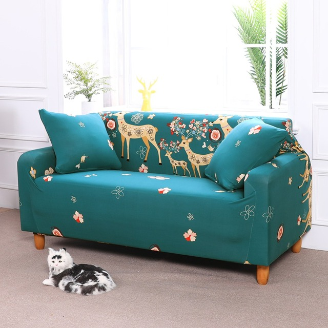 Fabric Stretch Furniture Covers Couch Sofa Slipcover European Pattern Full Cover  Sofa Protector Tight Wrap For